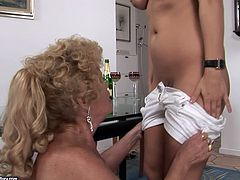 Kinky porn video of old granny getting her clam polished by torrid brownhead wench. Then curly granny eats ass of her lover.