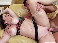 Full bodied Sara Jay is banged from behind fucking hard in steame porn video with Johnny Castle