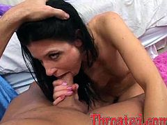 This playful and sizzling siren India Summer is such a babe! She gets naked and starts giving the most amazing blowjob!