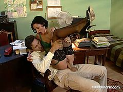 Cute brunette milf Michelle Wild is playing dirty games with some guy indoors. She favours him with a fabulous blowjob and then they have ardent sex in the reverse cowgirl and other positions.