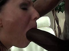 Filthy black bulls Ed Jr, Kid Jamaica and their wild friend with monster cocks have lot of fun while fucking balls deep black haired Maya B in her tight holes.