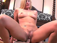 Stunning milf plays dirty and lets this guy to fill her with cream