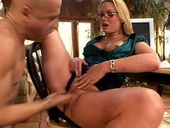 Press play and take a look at Flower Tucci's amazing body as this guy sucks on her toes before eating her ass out. Watch her sucking and titty fucking this dude's big cock.