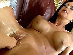 Nasty lesbians Cindy Hope and Larissa Dee are spending cool time together. Both amazing and sweetest nymphs are staying naked before fisting cunts of each other.