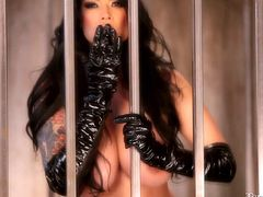 Tera is so fucking wild and beautiful that she belongs in a cage! Look at her how lustfully she is, eager to escape those bars and get savage with us! Her dark, long hair, big beautiful boobs and the wilderness in her eyes are saying everything about this beauty. Don't leave her there, surely she will escape!