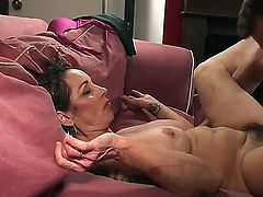 Woman with sweet unshaved pussy Mistress Elisa is going to be banged very hard in this action! She is going to get big massive penis so deep into her mouth and cunt.
