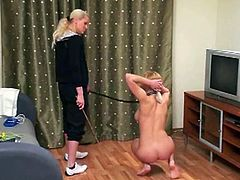 Blonde teen and her mistress