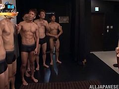 See how much fun the Japanese slut Nana Ogura has today when she gets to suck and fuck many cocks lining up to bang her in this gangbang.