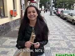 Petite amateur topless for money in a crowded street