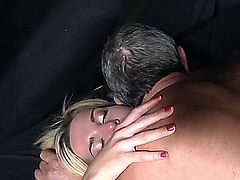 Gabriella is mad because she was dumped by her lover. She is horny and needs a cock to fill her wet pussy. When the oldman come she gets exactly what she wants: a cock.