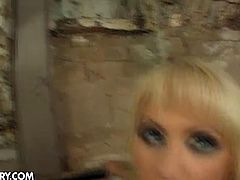Anita Henger is a perverse fishnet blonde ready to be viciously abused and banged from both ends by two hung studs, one black, one white. Watch her enduring a rough fuck before things get really perverse.