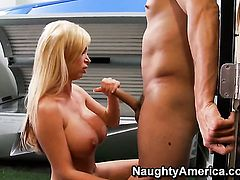 Anthony Rosano shows nice sex tricks to Nikki Benz with the help of his sturdy tool