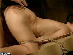 Bijou is dirty slave with a big ass. Her master fucks her face deep and screws her used cunt hard. Watch her get hardcore fucked and deepthroat his huge cock