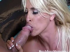 Monster tits momma Holly Halston drilled hard by this huge dick stud. She addresses his horny calling with her tasty pussy slit in this horny encounter on the couch.
