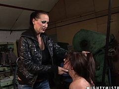 This cruel mistress tortures her slave by tying her to the chair and watching her squirm. Check out this wild BDSM sex video now and get ready to cum.