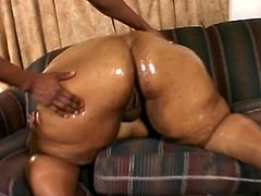 That black whore is huge and she loves hard and long cock in her vagina and this stud is going to do everything to make her pleased.
