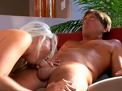 Beautiful Blonde Babe With Big Tits Fucking Doggystyle An Older Man