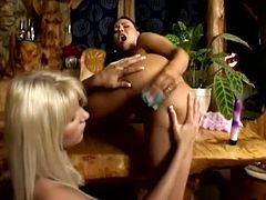 It's a very hot lesbian video featuring the sexy blonde Jordan Peak and the hot brunette Valentina Velasquez. They play with toys and lick each other's wet pussies.