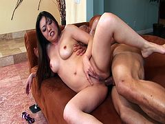 I Like It Black 7 - Asian MILF whore Kaiya Lynn has always wanted a big black cock in all her wet fuck holes and here she gets it; watch her sucking that huge ebony pole and getting her pussy and ass pounded in interracial action!