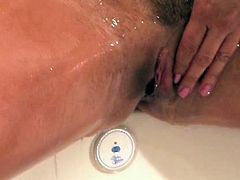 Stephanie massages oil all over her hot body..making sure to not miss any parts. She pays special attention to all the important parts...rubbing her nice perky breasts, extremely hard nipples, tight little pussy and round ass. Very sexual and sensual video with Stephanie, you do not want to miss.