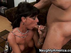 Sarah Bricks gets her hole dicked hard and deep by Danny Mountain in a wide variety of positions