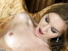Brunette Diamond Cross is full of passion to be anally fucked