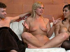 Sexy blonde girl sucks big dick and gets tied up. She also gets her pussy fucked and ass toyed deep. In addition she gets her body tortured with clothespins.