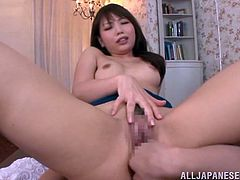 You will get some very hot POV shots in this video with the Asian beauty Yuki Kami who gets fucked cowgirl, doggy and missionary after getting fingered.