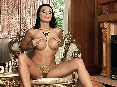 Aletta Ocean stripping down to her bare skin