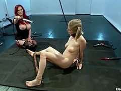 Severe redhead Mz Berlin is humiliating Penny Pax