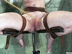 This is a true act of sadism in respect of these two sizzling babes. They go through a huge hell, which is called a BDSM and device bondage!
