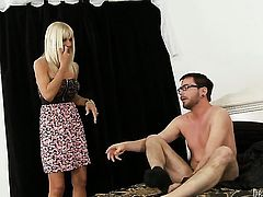 Kasey Storm gets turned on then face hammered by Dane Cross