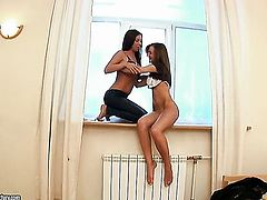 Brunette gal is just another fucktoy of insatiable lesbian Inna