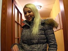 Sex hungry dude calls up a salty blond prostitute with Russian roots. As soon as she receives money, she squats down in front of him to please him with a steamy blowjob in pov sex vid by Mofos Network.