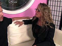 Amanda Blow is a sexy milf, who's got a thing for her son's friend, Will Powers. She invites him over for sex. She eats his asshole, while she pleasures herself, by rubbing her older, wet pussy. She loves playing with dick and assholes.