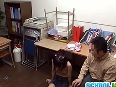 Check out this super cute Japanese teenie getting fucked in her tight pussy. Her boss knows how to make her cum and switches positions! Watch this shy schoolgirl get rammed and how her teacher teachers her a lesson!