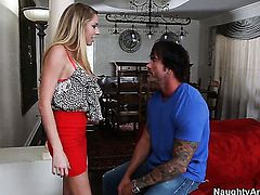 Brynn Tyler with huge jugs and smooth bush cant resist Dale Dabones rock hard snake