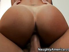 Christian makes his rock hard dick disappear in delicious Lezley Zens pussy