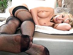 Kayden Kross is ready to pose naked and play with herself all day long