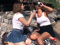 Pussy playing lesbian whores outdoors get shameless with every pounding they make with the use of their fingers and wet toys. They don't mind the scorching heat as long as they enjoy.