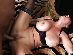 Karen Kougar is on the way to the height of pleasure with dudes sturdy snake in her beaver