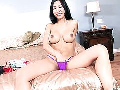 Tia Ling gets her soaking wet fuck hole hammered