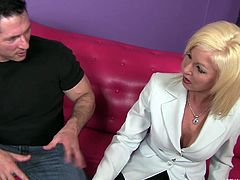 See as this amazing blonde milf called Sindi Star goes to town on her son's friend. He's one lucky guy because he has the privilege of having his asshole rimmed by this gorgeous woman. Do you like blowjobs? Well, she sucks his cock, too.