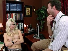 So Fucking Sexy Jasmine with nice titts got fucked in her Pussy by her new coworker