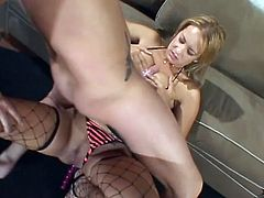 Press play on this hardcore scene where the smoking hot blonde Trina Michaels has her holes drilled by a big cock in this rough hardcore scene.