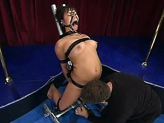 Kinky Hot Latina Enjoying a Severe Toying in Bondage Session