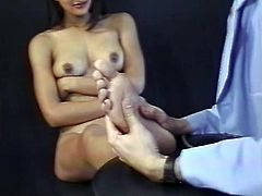 Blowjob is why she loves to be around guy, this sexy Indian brunette is ready for hardcore doggystyle before she get her face covered with jizz.
