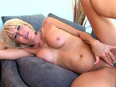 She spreads her legs wide indicating how bad she wants him to fuck her twat in missionary position. He pounds her mercilessly in and out until she reaches sweet orgasm.