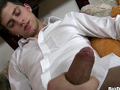 Johnny is a shy boy, but I know how to handle him. All he needs is a dildo between his lips and soon, this cutie will fuck, like a shameless whore. He begins sucking that sex toy and then, I give him the real thing. Feeling the meat between his lips, Johnny gets aroused and he wants more and more. What should I do to him?