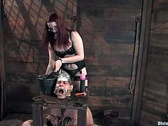 Damn, this slutty bitch Claire Adams is such a fucked up bitch! She is crazy and out of her mind totally! She ties Orlando up and cuts his fucking hair off! Damn!